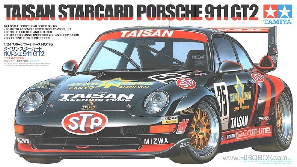 1 24 taisan starcard porsche 911 gt2 24175 tam24175 tamiya. Black Bedroom Furniture Sets. Home Design Ideas