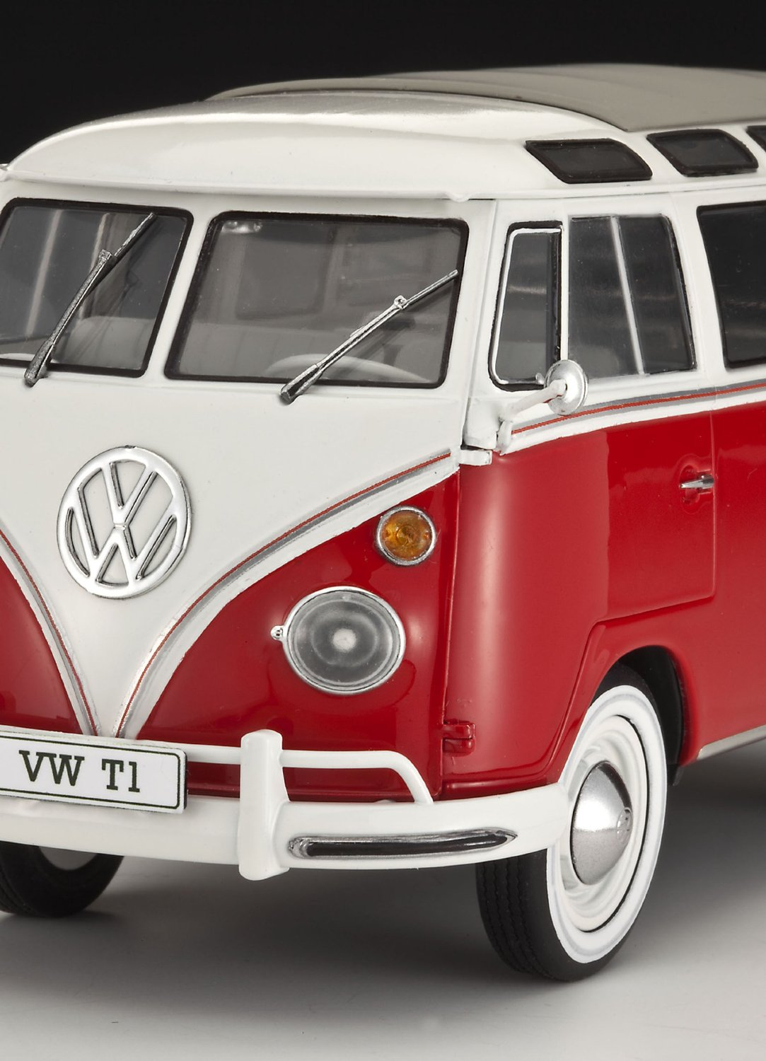 1 24 vw volkswagen t1 samba bus 23 window rev07399 revell. Black Bedroom Furniture Sets. Home Design Ideas