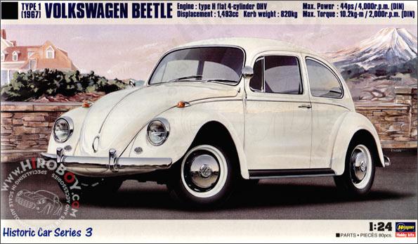 Volkswagen European Delivery >> 1:24 Volkswagen Beetle Type 1 (1967)   HAS-HC3   Hasegawa