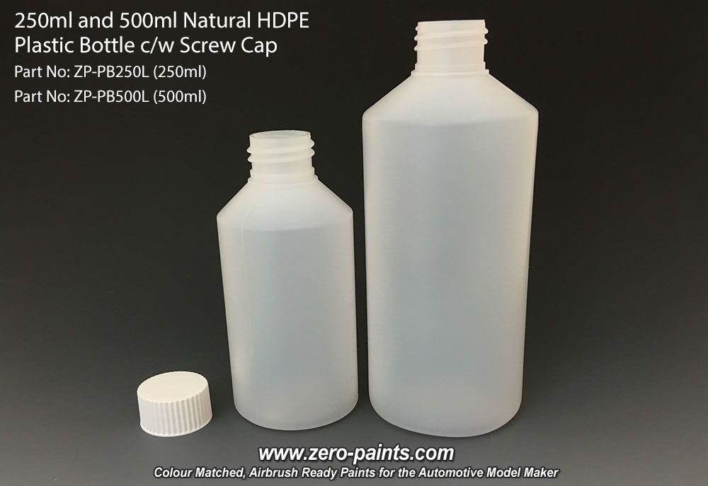 500ml Natural Hdpe Plastic Bottle C W Screw Cap Zp