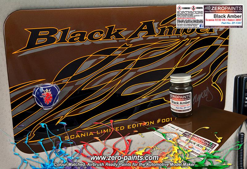 black amber scania r730 v8 italeri 3897 paint 60ml zp 1347 zero paints. Black Bedroom Furniture Sets. Home Design Ideas