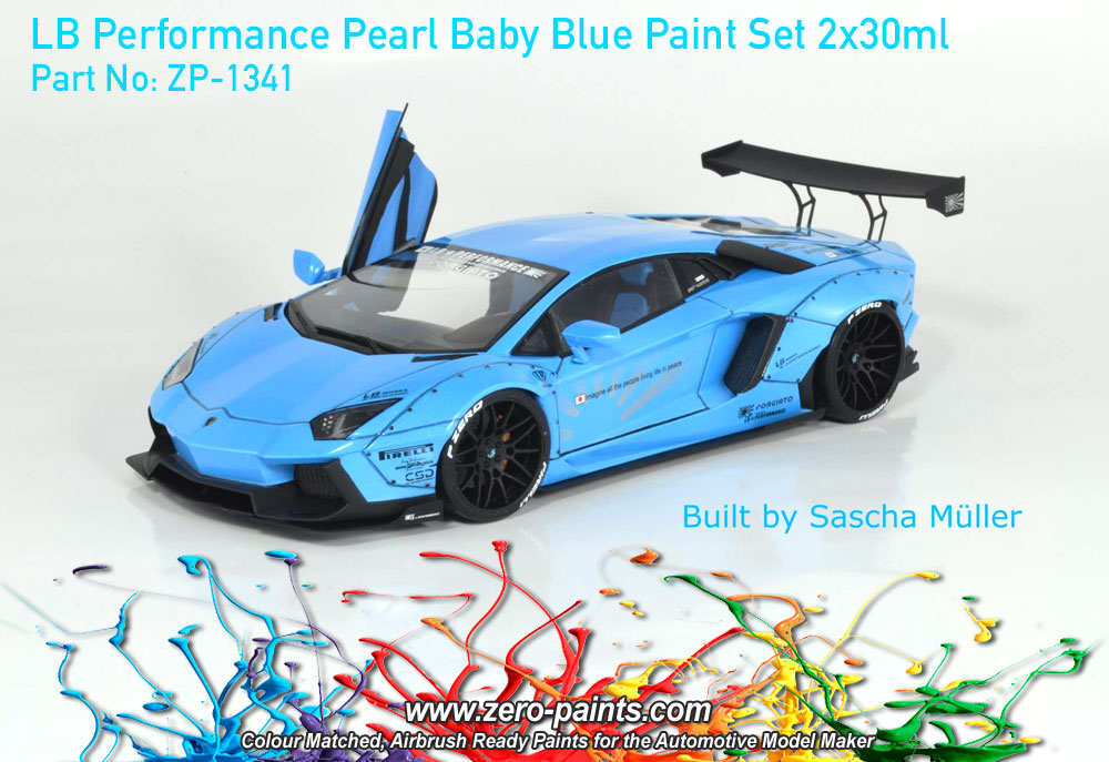 lb performance pearl baby blue paint set 2x30ml zp 1341