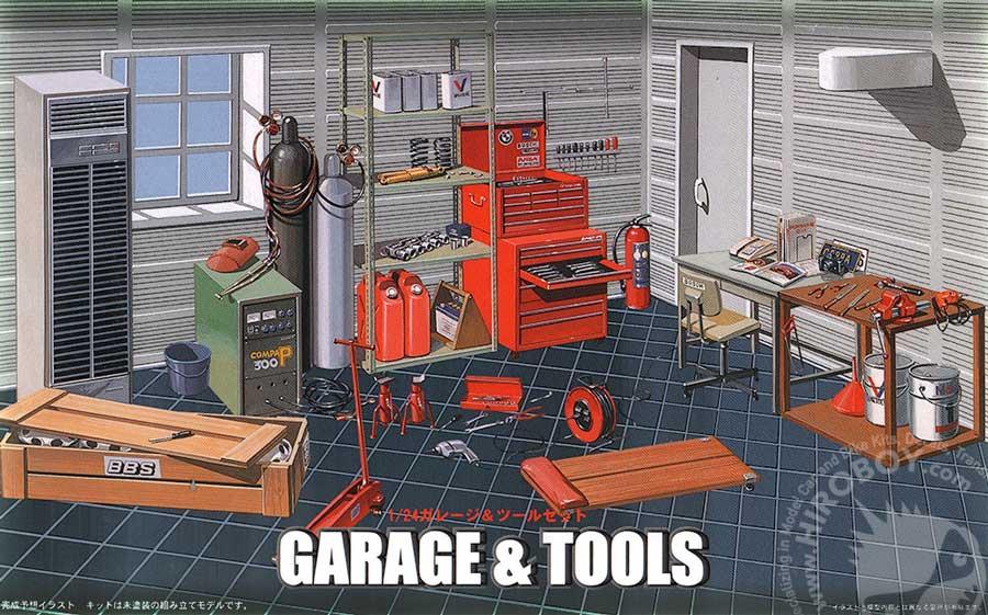 1 24 Garage And Tools Diorama Fuj 11118 Fujimi