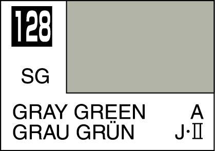 Mr Color Paint Gray Green 10ml C128 Gsi C 128 Gunze Sangyo Mr