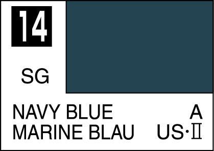 Mr Color Paint Navy Blue 10ml C014 Gsi C 014 Gunze Sangyo Mr