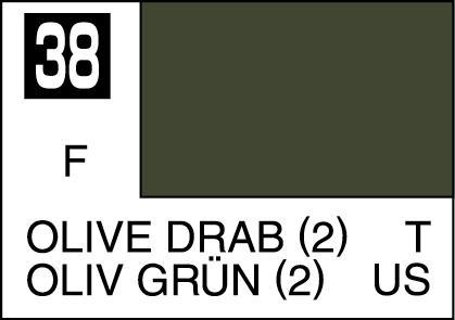Mr Color Paint Olive Drab 2 10ml C038