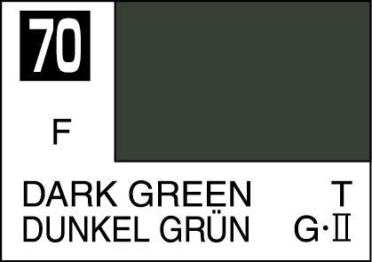 Mr Color Paint Dark Green 10ml C070 Gsi C 070 Gunze Sangyo Mr