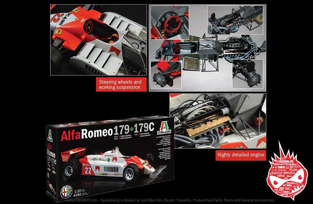 1:12 Alfa Romeo 179 - 179C Model Kit   IT-4704   Italeri