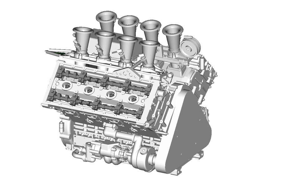 1:12 DFV Engine Kit
