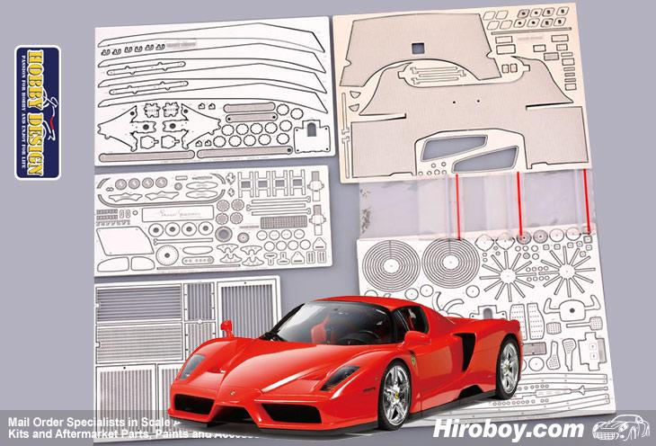 PE + Metal parts + Resin Hobby Design 1//24 CLK-GTR Detail Set for Tamiya kits
