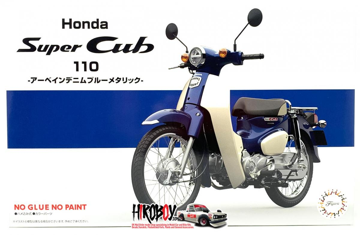 1 12 Honda Super Cub 110 Urbane Denim Blue Metallic Fuj 141794 Fujimi