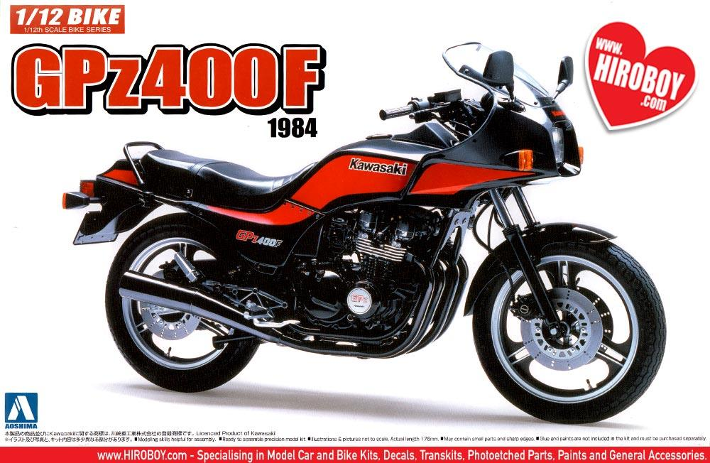 1:12 Kawasaki GPZ400F 1984 Model Kit | AOS-053270 | Aoshima