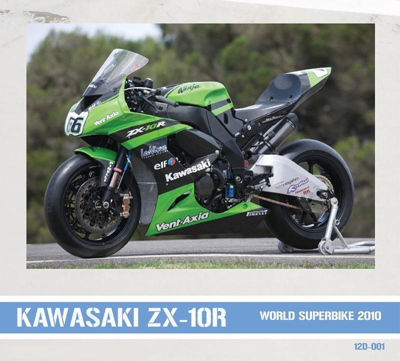 112 Kawasaki ZX10R Official WSBK Team 2010 Decals