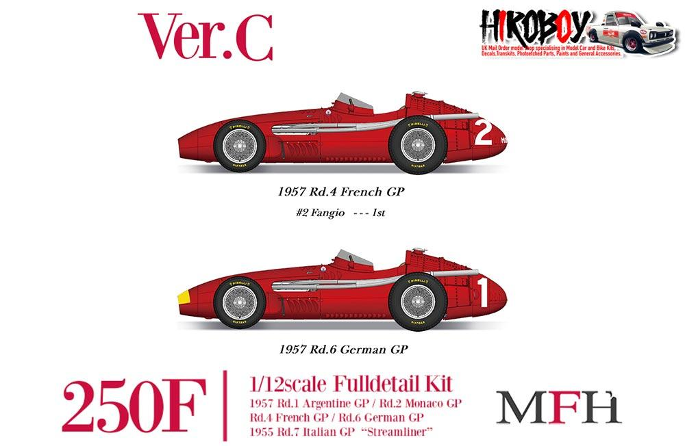 1:12 Maserati 250F Full Detail Kit - Ver A : 1957 Rd 1 Argentine GP Winner