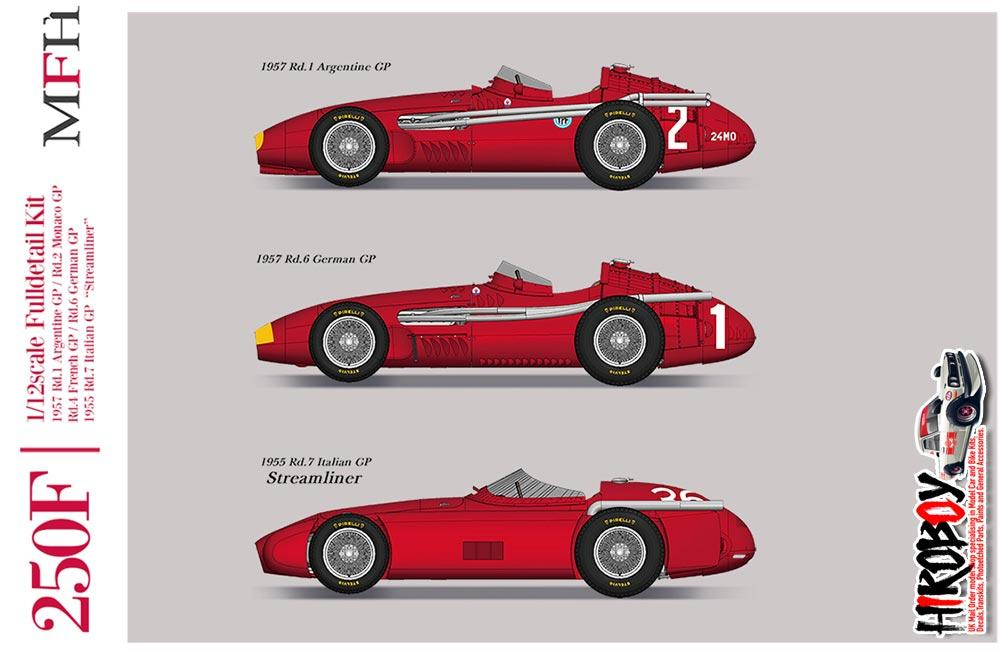 1:12 Maserati 250F Full Detail Kit - Ver C : 1957 Rd 4 French GP  Winner/Rd 6 German GP Winner