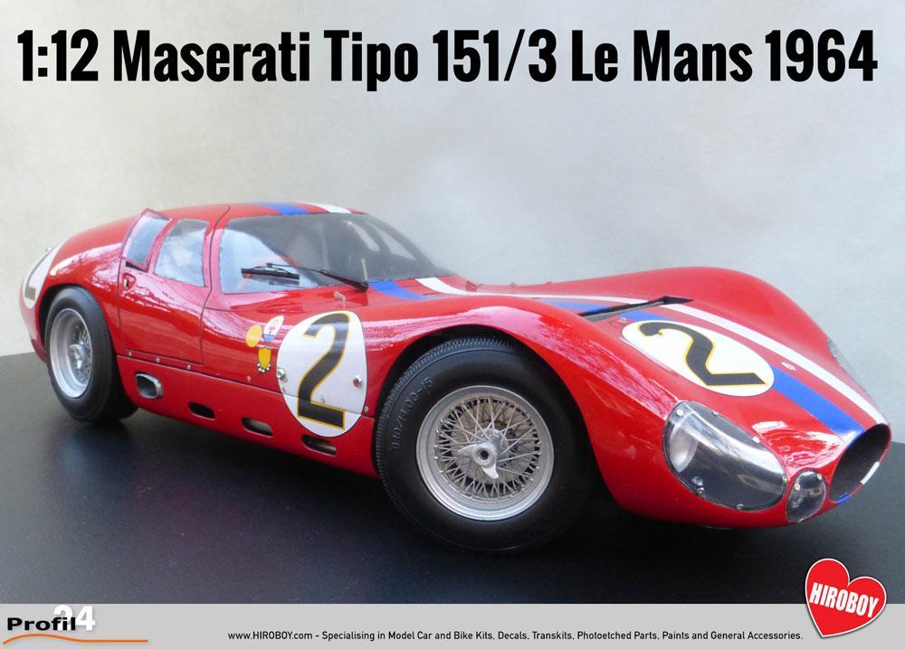 1:12 maserati tipo 151/3 le mans 1964 (profil 24) | p1202k | profil 24