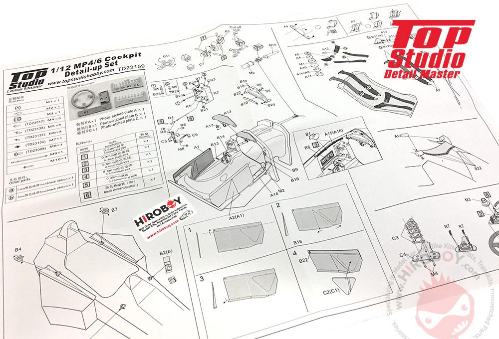 1 12 mclaren mp4 6 cockpit detail up set td23159 top studio rh hiroboy com McLaren Speakers McLaren Speakers