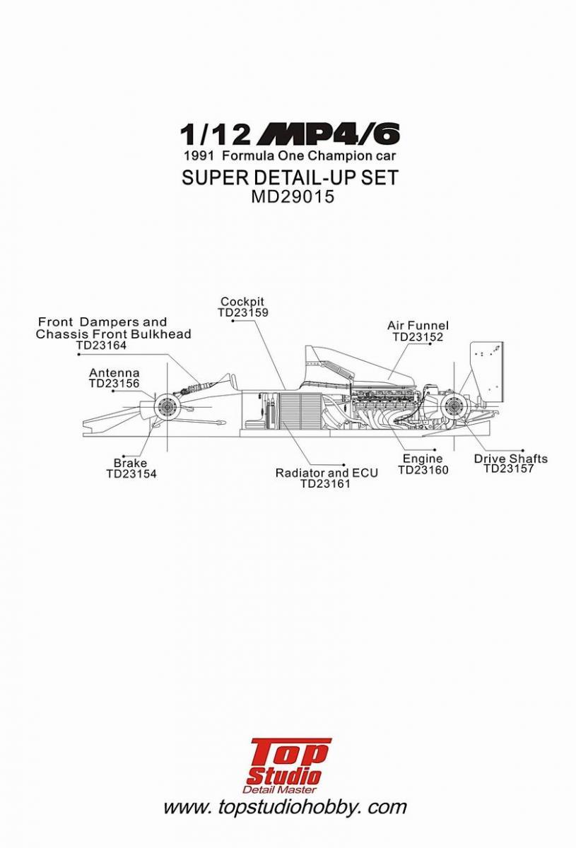1 12 mclaren mp4 6 super detail up set md29015 top studio rh hiroboy com McLaren MT 7 Manual McLaren Surround Sound System