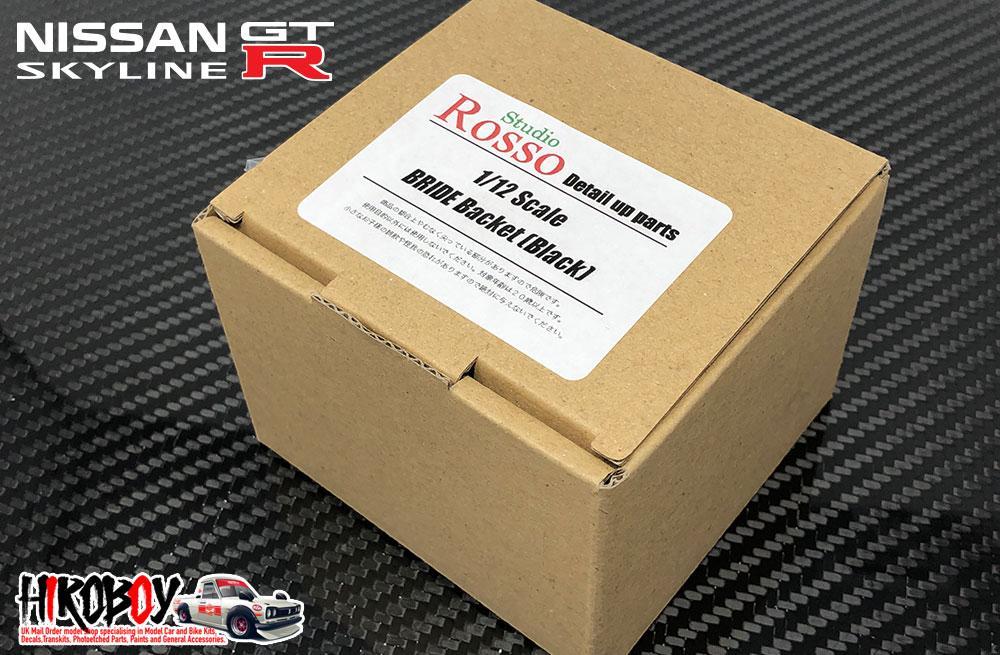 1:12 Bride Bucket Seats (Black) for Fujimi Nissan Skyline R32 GT-R