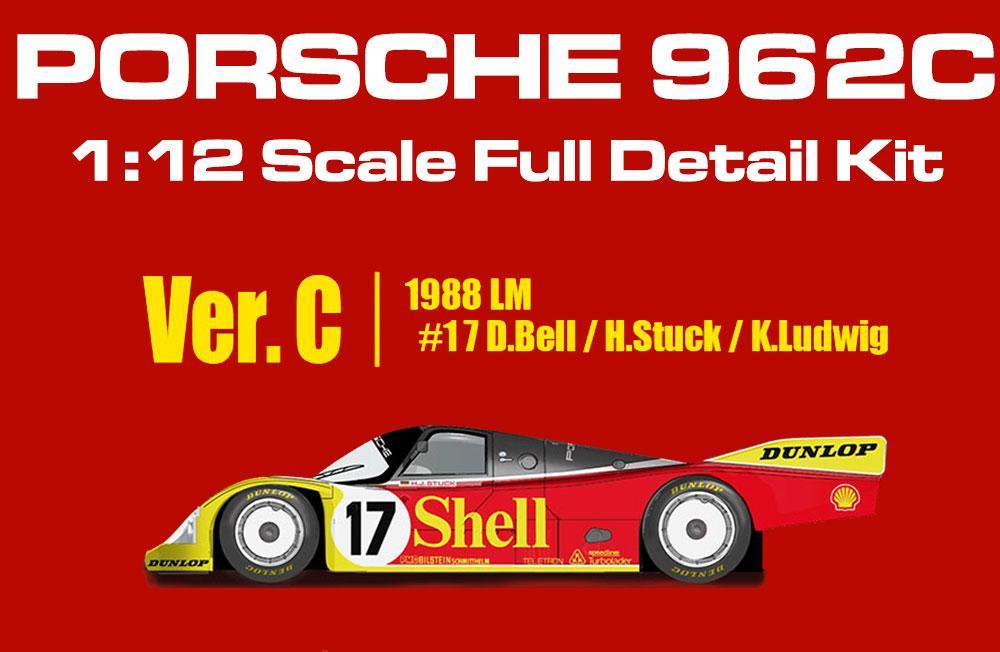 Team Porsche AG TEST CAR BRM Porsche 962C Dunlop White n.17