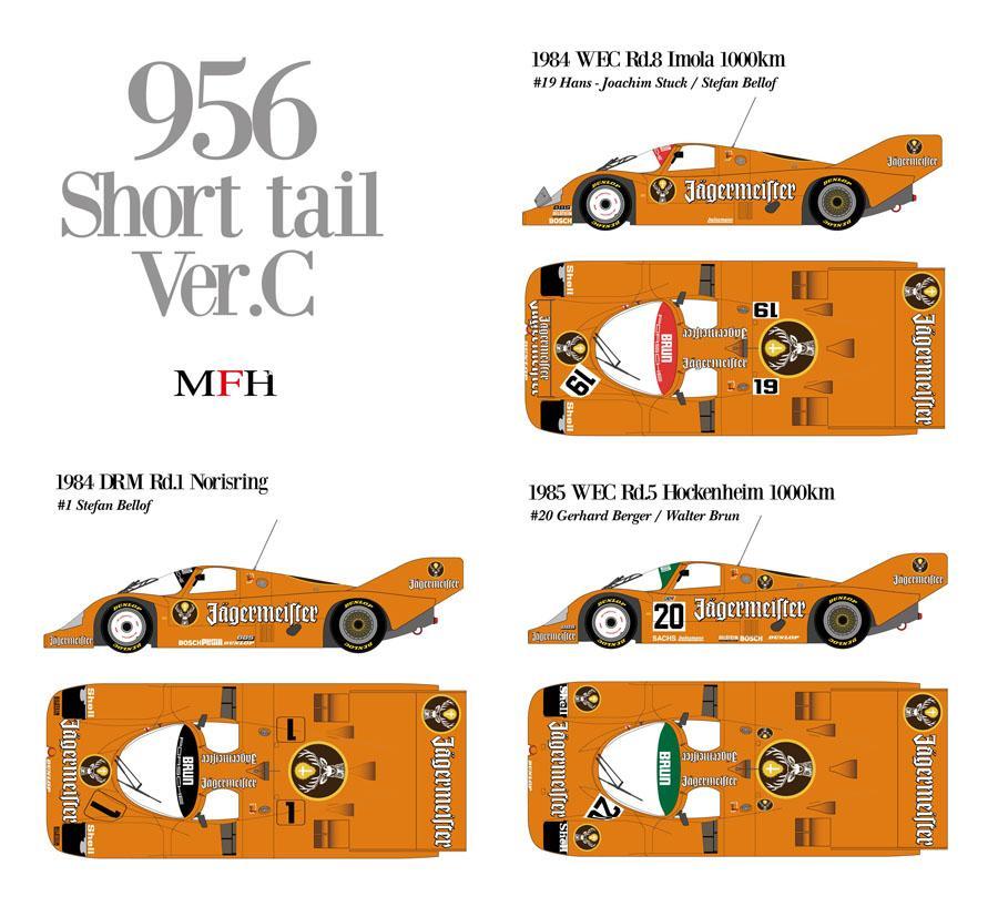 1:12 Porsche 956 Short Tail Jagermeister Ver D Ful Detail Kit   MFH ...