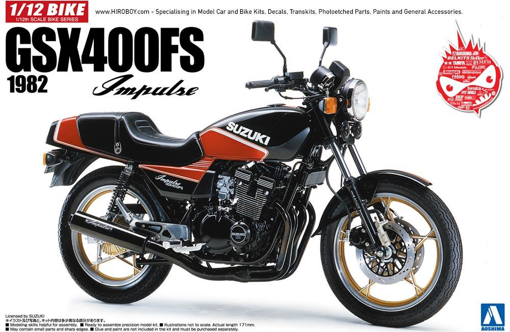 1:12 Suzuki GSX400FS Implse 1982 Model Kit | AOS-053959 | Aoshima