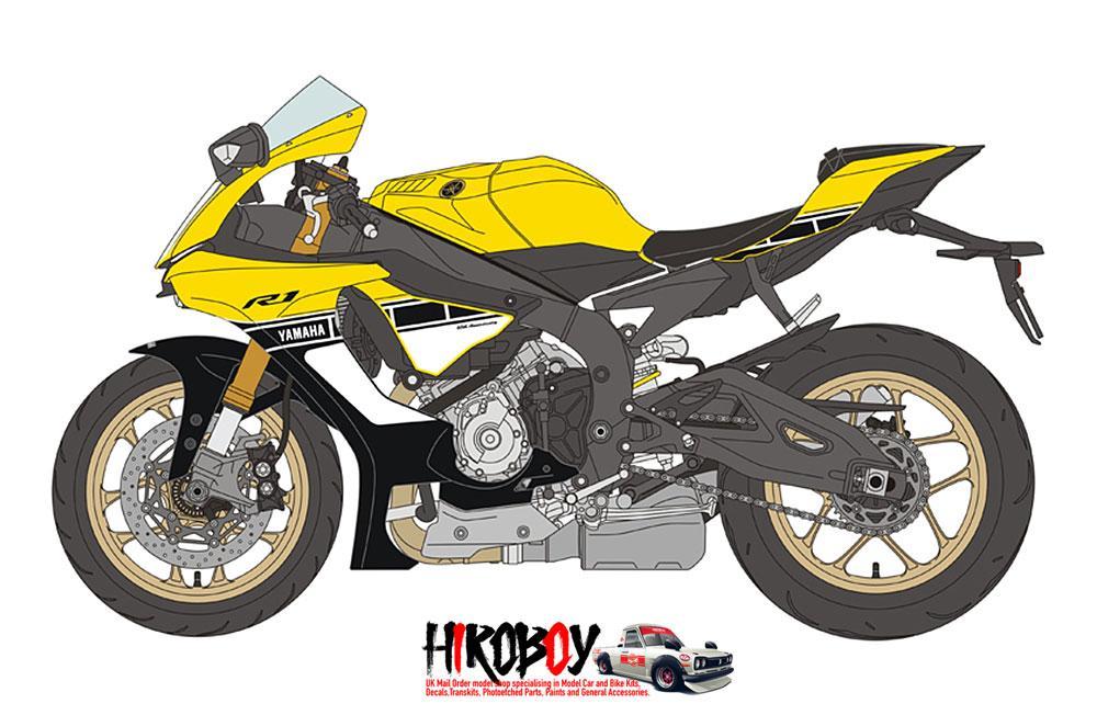 1 12 Yamaha Yzf R1 60th Anniversary Decals For Tamiya 14133