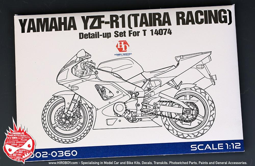 1:12 Yamaha YZF R1 (Taira Racing) Detail Up Set For Tamiya