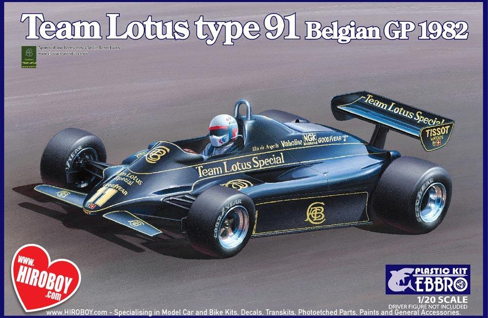 Bon 1:20 Team Lotus Type 91 Belgium GP (Lotus 91) By Ebbro