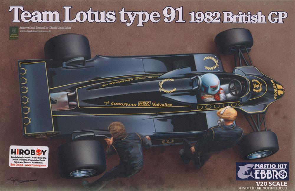 1:20 Team Lotus Type 91 (Lotus 91) By Ebbro