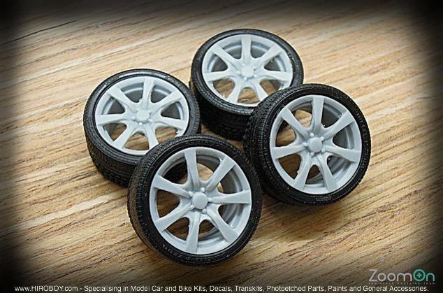 1:24 18u0027u0027 Honda Civic Type R (FD2) Wheels And Tyres