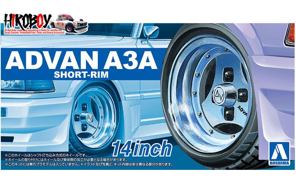 Automotive 4 Wheels w/Tyres Fujimi Models 1/24 17inch Yokohama Model 7 Wheels & Tyres Set