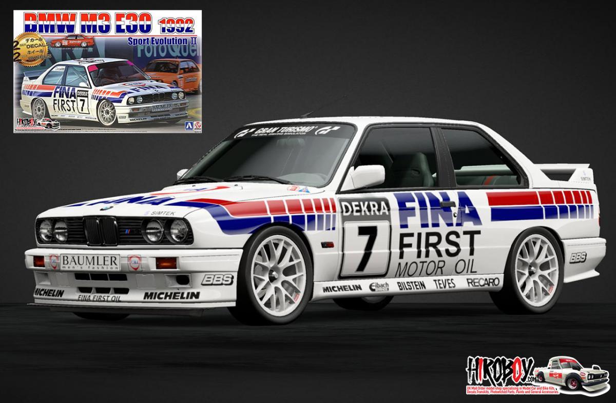 1:24 BMW M3 E30 1992 Sport Evolution II (Jagermeister/Fina Decals)   BEEB24019/106303   Beemax / NUNU