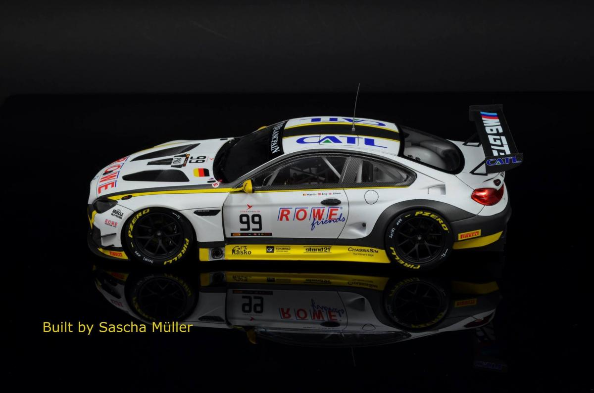 2229d15d83663 ... 1 24 BMW M6 GT3 ROWE Racing Team Model Kit by Platz ...