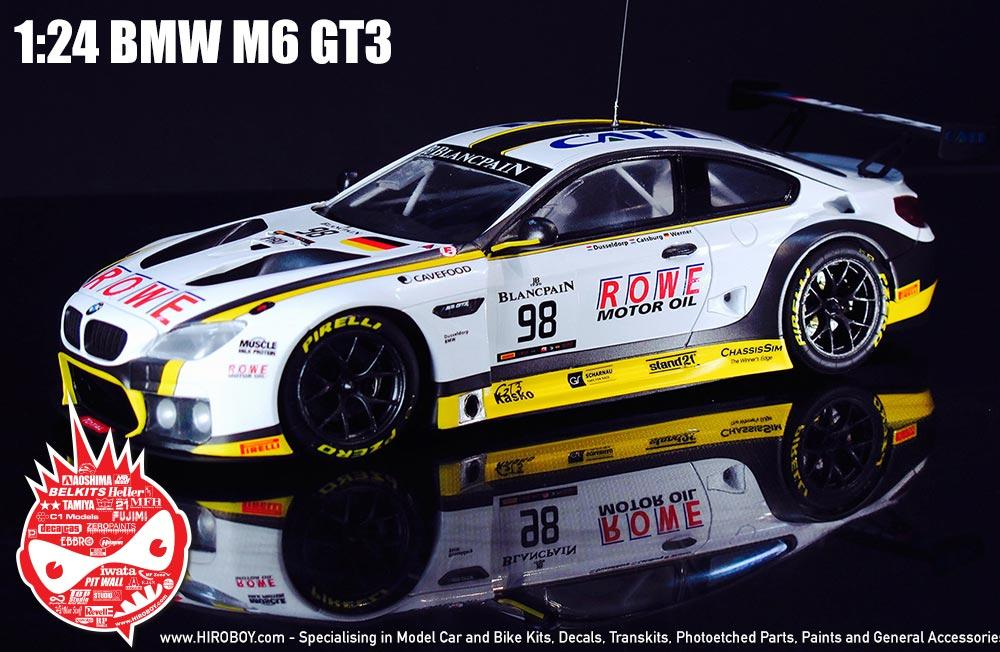 1 24 Bmw M6 Gt3 Rowe Racing Team Model Kit By Platz