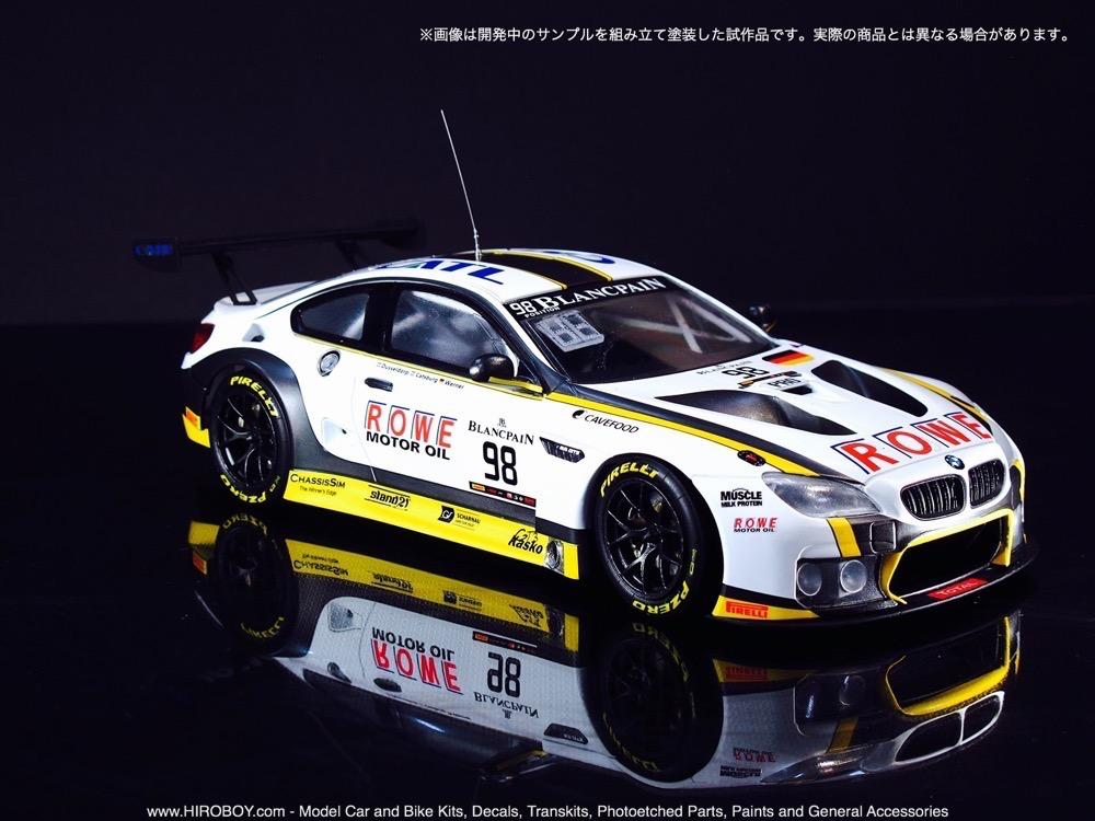 1 24 bmw m6 gt3 rowe racing team model kit by platz plzpn24001 platz. Black Bedroom Furniture Sets. Home Design Ideas