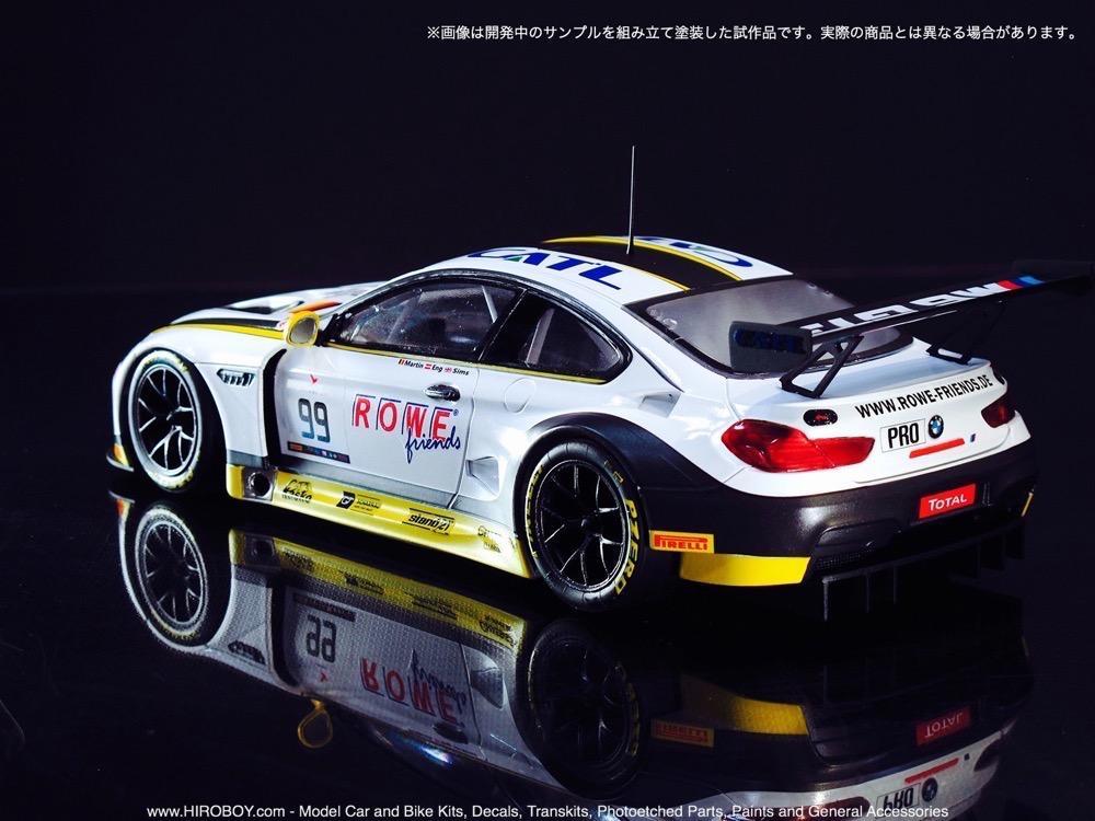 High Quality ... 1:24 BMW M6 GT3 ROWE Racing Team Model Kit By Platz ...