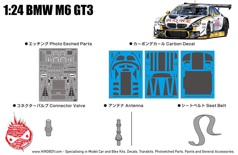 1:24 BMW M6 GT3 Detail-up Set | NE24001 | Platz