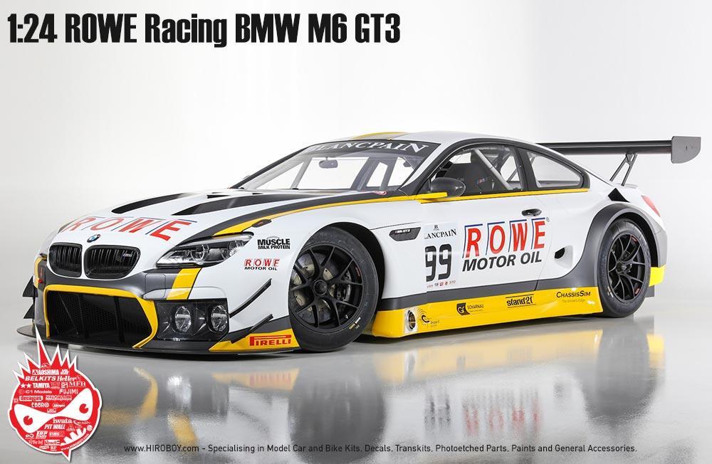 1:24 BMW M6 GT3 ROWE Racing Team Model Kit By Platz