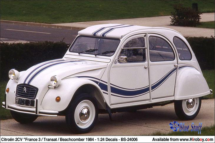1 24 citroen 2cv france 3 transat beachcomber 1984 bs 24006 blue stuff. Black Bedroom Furniture Sets. Home Design Ideas