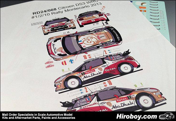 MONTE CARLO 2015 #4 DECALS 1//43 CITROËN DS3 WRC COLORADO 43256 LOEB