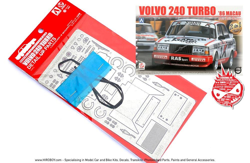1:24 Detail Parts for Volvo 240 Turbo \'86 Macau GP | E24012/098288 ...