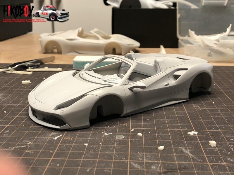 1:24 Ferrari 488 Spider - Full Resin Model kit