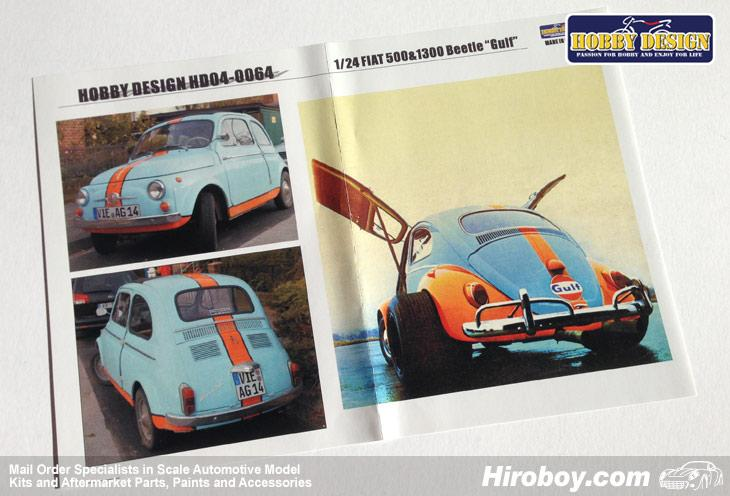 1 24 Fiat 500 1300 And Vw Beetle Gulf Logo Decals