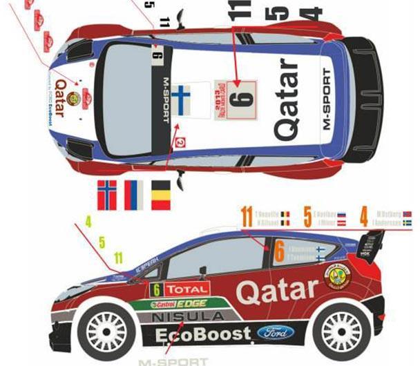 124 ford fiesta wrc qatar monte carlo 2013 belkits