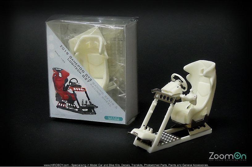 1:24 GamePod GT2 Gaming Seat and Logitech G27 Racing Wheel