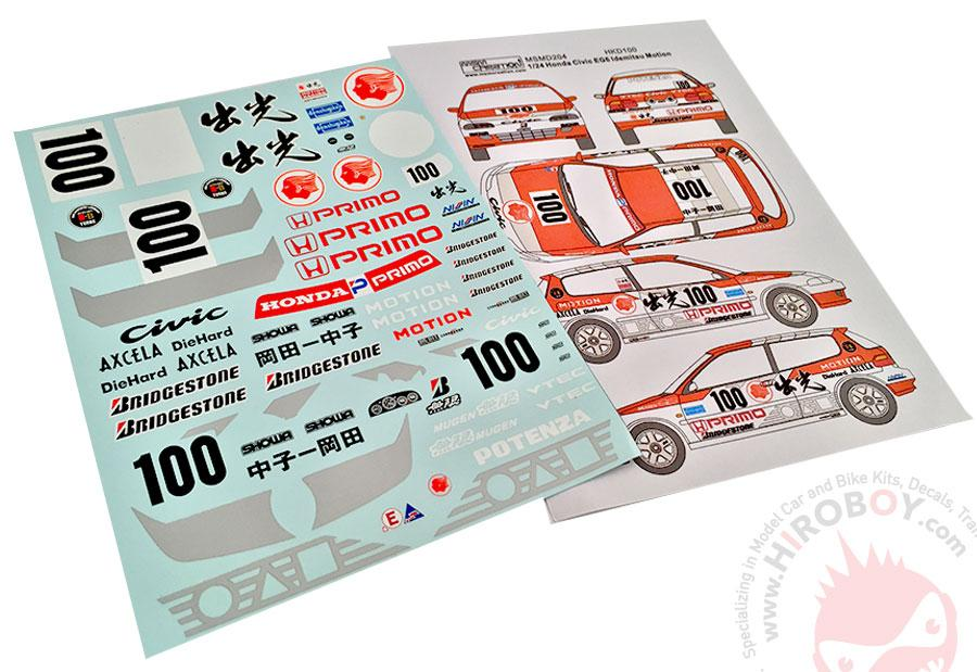 124 honda civic eg6 idemitsu motion decals