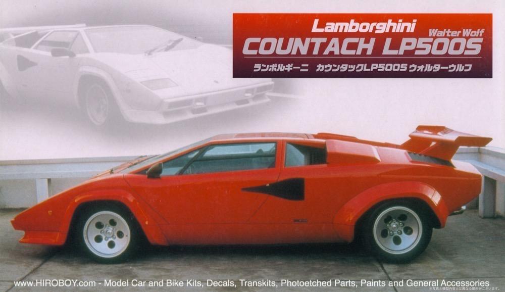 1 24 Lamborghini Countach Lp500s Walter Wolf Fuj 12224 Fujimi