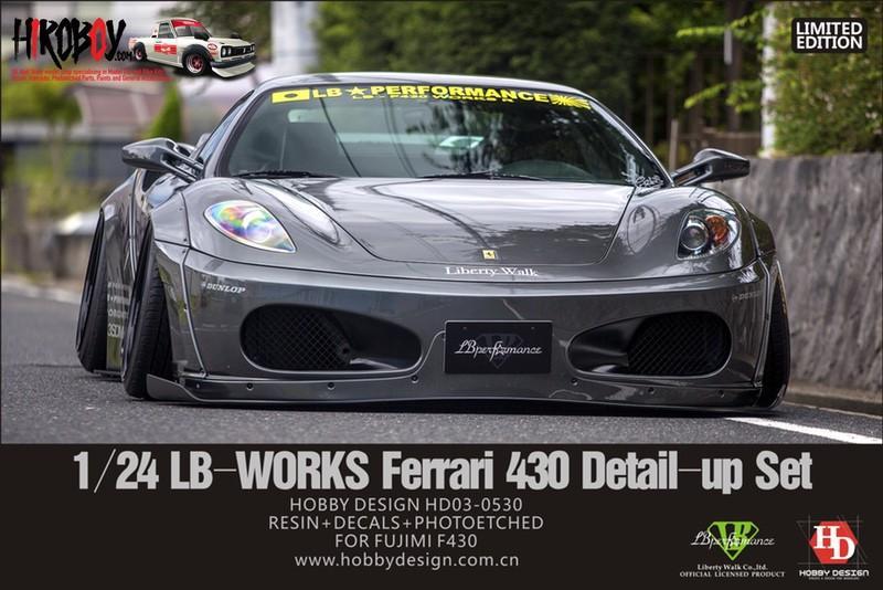 1:24 LB-WORKS Ferrari 430 Wide Body Kit for Fujimi Ferrari 430