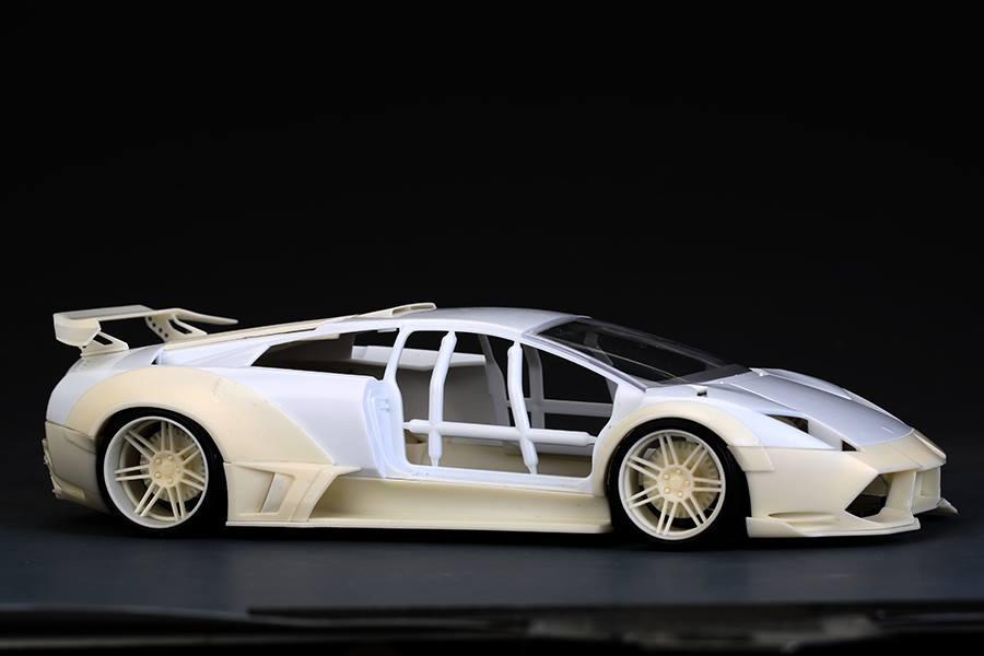 1 24 Lb Works Lamborghini Murcielago Lp640 Wide Body Kits Hd03 0500
